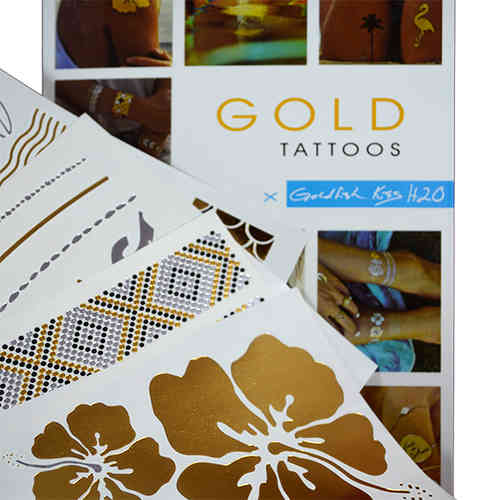 Gold Tattoo-Goldfish Kiss korutatuointi