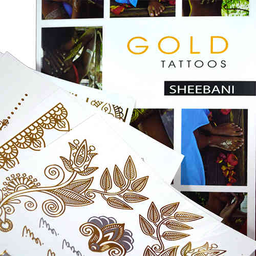 Gold Tattoo-Sheebani korutatuointi
