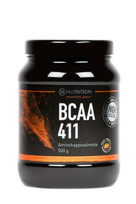 M-Nutrition BCAA 411 Peach aminohappojauhe 500g
