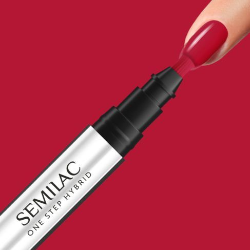 Semilac One Step geelikynä, S550 pure red 3ml